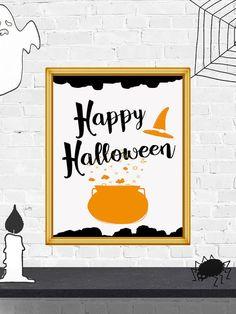 50% OFF SALE Happy Halloween Sign Halloween by PrintArtPosters #halloween #poster #wallart #decor #print #quote #printable #decoration #happyhalloween #art #halloweensign #halloweendoor #halloweenparty #prints #ideas #pictures #design #PrintArtPosters #etsy #gift
