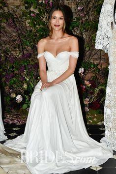 Sarah Seven Off-the-Shoulder Wedding Dress