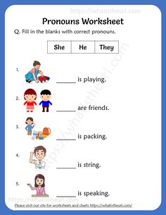 Pronouns Worksheets For Grade Activities For 1st Graders, 2nd Grade Reading Worksheets, Pronoun Activities, Worksheets For Class 1, English Activities For Kids, English Grammar For Kids, First Grade Reading Comprehension, English Stories For Kids, Pronoun Worksheets