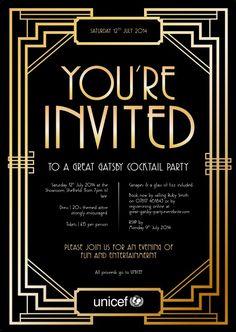 Vintage Glamour Invitation Speakeasy 1920 Roaring 20s