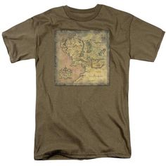 Lord of the Rings : Middle Earth Map T-Shirt - NerdArmor.com