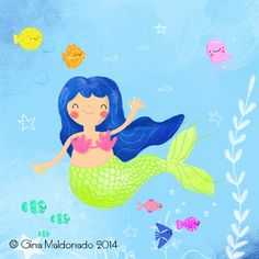 The little mermaid @ Gina Maldonado 2014
