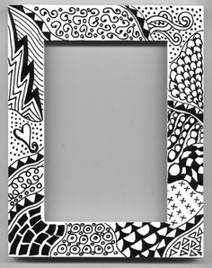 Zentangle - I will adapt this to treble and cleff patterns. Tangle Doodle, Tangle Art, Doodles Zentangles, Zen Doodle, Doodle Art, Doodle Patterns, Zentangle Patterns, Sharpie Art, Sharpies