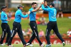 James Anderson was incisive with the new ball and bagged both openers in quick succession. Tri Series, James Anderson, World Cricket, Finals, Leather Pants, England, Australia, Leather Jogger Pants, Lederhosen