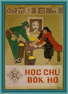 Poster Name: Spreading education to the highland ethnics in 1980 Description: Old Original Vietnam Poster Info: Hand-painted in 1980, collected in North Vietnam Material: Wood Paper Size: 49 cm wide x 64 cm high Price: $200