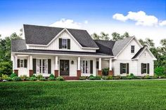 Plan 51745HZ: Country House Plan with Flex Space and Bonus Room