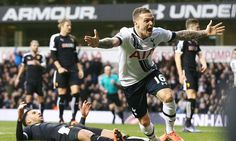 Kieran Trippier goal celebration vs Watford 06 Feb 2016.