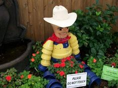 Cowboy clay potted craft . So cute. I see this at the camper .