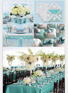 Tiffany Blue Themed Outdoor Wedding
