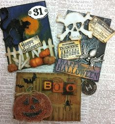 Richele Christensen: Halloween ATC's