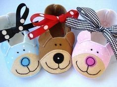 Bear Baby Booties Shoes Sewing Pattern PDF by preciouspatterns