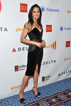 black dress Padma Lakshmi