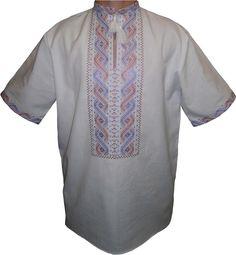 #вишиванка чоловіча безпосередньо на домотканому полотні (Арт. 00032)