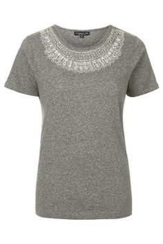 TALL Embellished Neck T-Shirt