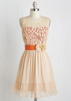 Ryu Home Sweet Scone Dress in Apricot | Mod Retro Vintage Dresses | ModCloth.com