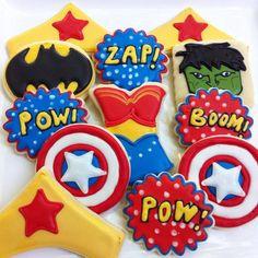 Wonder Woman Batman superhero cookie