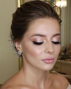 Simple Wedding Makeup, Best Wedding Makeup, Natural Wedding Makeup, Wedding Hair And Makeup, Hair Wedding, Wedding Dresses, Natural Make Up Wedding, Green Wedding, Wedding Makeup Brunette