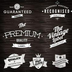 Free Logo Vintage Labels Design Vector