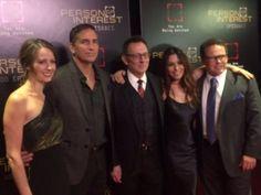 Amy Acker, Jim Caviezel, Michael Emerson, Sarah Shahi, & Kevin Chapman (Person of Interest 100th Episode Party, 7 November 2015)