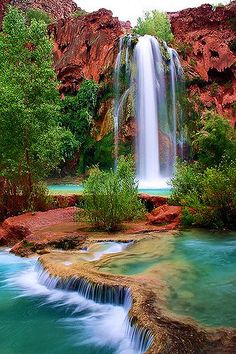 Falls (re-edit) Havasu Falls, Grand Canyon, ArizonaHavasu Falls, Grand Canyon, Arizona Beautiful Waterfalls, Beautiful Landscapes, Beautiful Places To Travel, Beautiful World, Dream Vacations, Vacation Spots, The Places Youll Go, Places To See, Landscape Photography