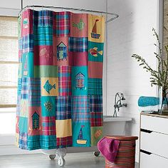 Harbor Cove Shower Curtain   The Company Store