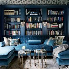 """""""I must have books everywhere. They're the soul of a room — they reveal the taste, the interests, and the secrets of whoever lives there."""" — Fashion designer Diane von Furstenberg Source: Instagram user 1stdibs"""