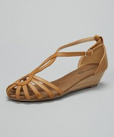 Look at this #zulilyfind! Cognac Cyruny Sandal by Bucco #zulilyfinds
