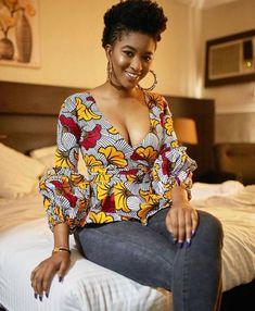 Smart Ways to Combine Ankara Tops With Jeans In 2020 Ankara Tops Blouses, Ankara Peplum Tops, African Blouses, African Dashiki, African Fashion Ankara, African Inspired Fashion, Latest African Fashion Dresses, African Print Dresses, African Print Fashion