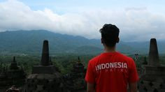 View from the Top of Borobudur Temple,  Magelang,  Central Java