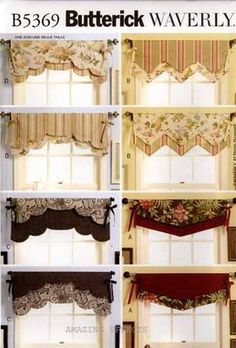 Butterick Sewing Pattern B5369 Reversible Valances 5369 Window Treatment | eBay