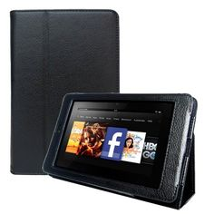 """KaysCase FlipStand Slim Cover Case for Amazon Kindle Fire HD 7"""" inch Tablet, Dolby Audio, Dual-Band Wi-Fi, 16 GB, Auto Sleep Wake (Black)"""