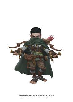 "Anders ""Underbarrel"" Gilderslade - Halfling Ranger"