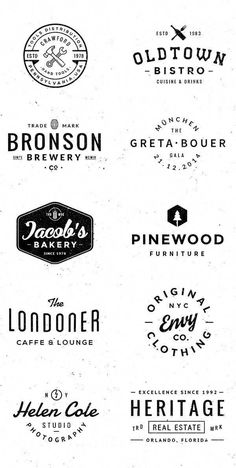 vintage logo Logo/Badge Templates on Behance Design Retro, Vintage Logo Design, Vintage Fonts, Vintage Typography, Retro Poster, Poster S, Ideas De Merchandising, Logo Atelier, Rundes Logo