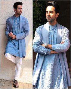 We have inculcated his best looks, for every wedding function. Bookmark ShaadiSaga and get ready with your trending outfit inspiration from Ayushmann Khurrana Mens Indian Wear, Indian Groom Wear, Indian Men Fashion, Mens Fashion Suits, Mens Ethnic Wear, Wedding Kurta For Men, Wedding Dresses Men Indian, Wedding Dress Men, Designer Suits For Men