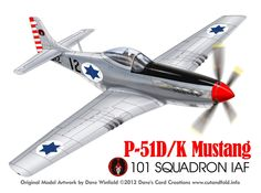 P-51D Mustang Israel AF 101 Squadron- Paper Model Mockup Artwork by Dave Winfield - www.papermodelshop.com