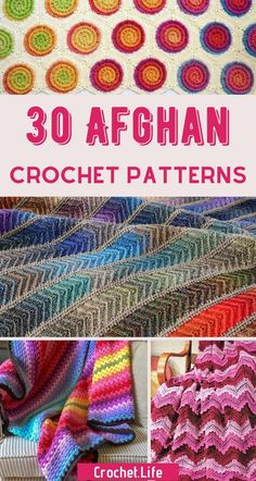 30 Crochet Afghan Patterns to create for yourself or gift to friends! Beautiful simple stitches, puff stitch blankets, and even flower crochet blankets are just what you need to showcase your skills. Crochet Owl Blanket, Crochet Stitches For Blankets, Giraffe Crochet, Crochet Stitches For Beginners, Afghan Blanket, Crochet Stitches Patterns, Ripple Afghan, Beginner Crochet, Crochet Animals