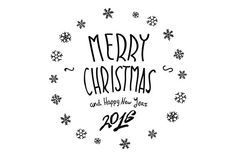 Merry Christmas Happy New 2016 Year by Rommeo79 on Creative Market