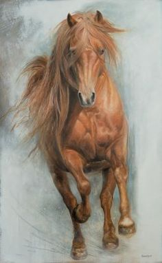 Cute Horses, Pretty Horses, Beautiful Horses, Animals Beautiful, Painted Horses, Horse Oil Painting, Watercolor Horse, Art Painting Images, Horse Coloring Pages