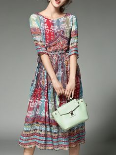 Spring And Summer Printed Chiffon Dress dresses for vacation vacation outfit ideas vacation dresses mexico travel dress outfit beach vacation dresses travel dress vacation fashion summer vacation dresses Print Chiffon, Chiffon Dress, Dress Skirt, Casual Dresses, Fashion Dresses, Midi Dresses, Casual Outfits, Streetwear, Travel Dress