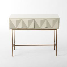 Sculpted Geo Console $499 #ColleenKrajewski