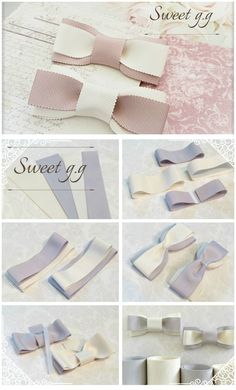 I Love Crafts: Ties of All Kinds step by step Making Hair Bows, Diy Hair Bows, Diy Bow, Diy Ribbon, Ribbon Bows, Hair Bow Tutorial, Headband Tutorial, Baby Bows, Baby Headbands