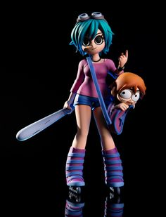 Mondo's Ramona Flowers exclusive figurine. Look at the perfectly punchable Scott head! :D