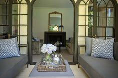 Formal Living and external lounge. Holly Hunt external sofas, Jardan internally. Brooke Aitken Design
