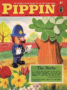 Pippin Comic,Playland Comic & The Herbs,Parsley the Lion.