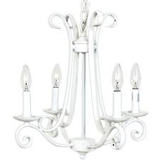 Harp Chandelier in White