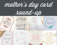 mothers day gifts 2013: card round up