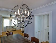 The 3 light elle chandelier by maxim lighting bed room lighting the 6 light orbit chandelier by maxim lighting mozeypictures Images