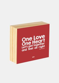Box ilustrado - One love, one heart