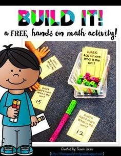 This easy-to-prep, hands on math activity has your young learners counting, building, and adding cubes!You can read more about it here:http://thankgoditsfirstgrade.blogspot.com/2013/10/more-math-stations-and-addition-freebie.html