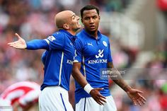 Esteban Cambiasso of Leicester City in action during the Barclays... News Photo | Getty Images
